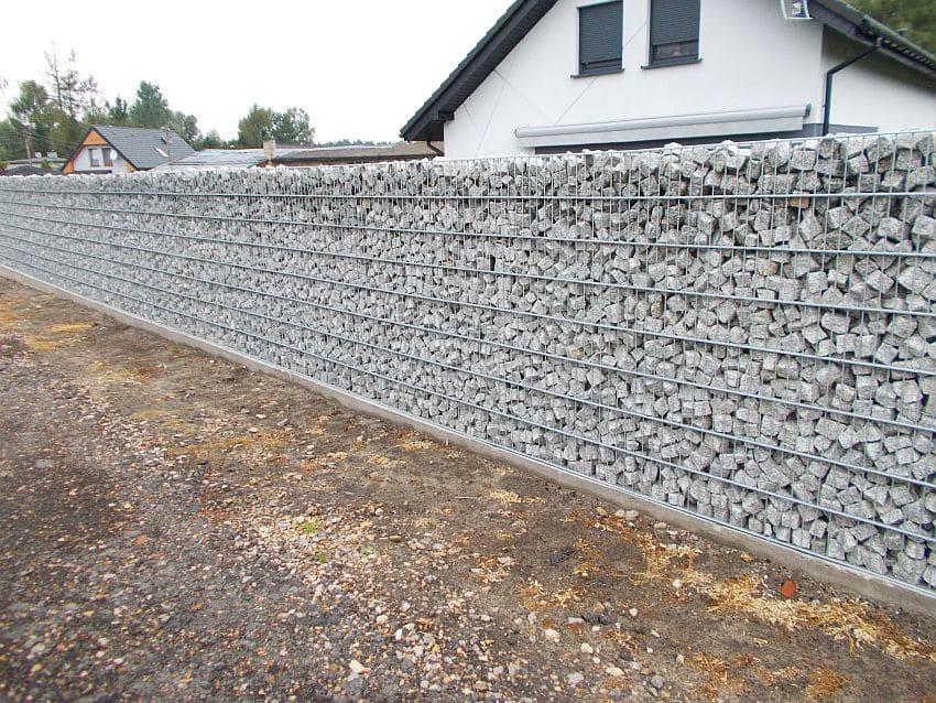 Realizacje ogrodzenia gabiony