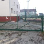 Brama metalowa malowana