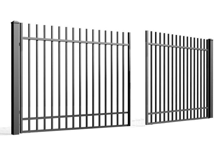 Palisada pionowa 67A - brama dwuskrzydłowa