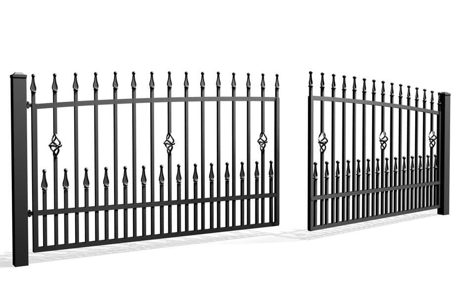 Palisada pionowa 67D - brama dwuskrzydłowa