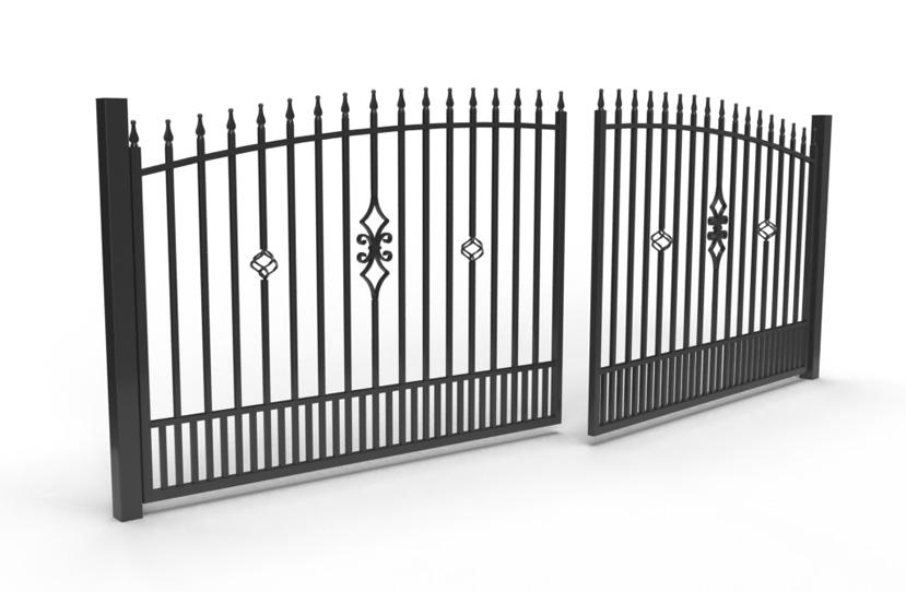 Palisada pionowa 62A - brama dwuskrzydłowa