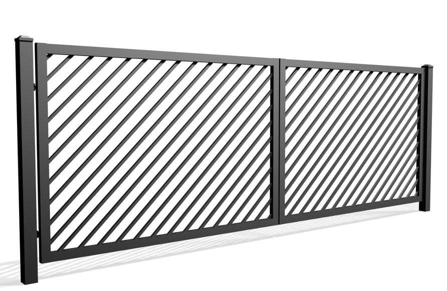 Palisada skośna 68A - brama dwuskrzydłowa