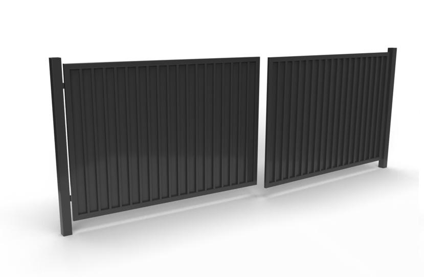 Palisada pionowa 71 - brama dwuskrzydłowa