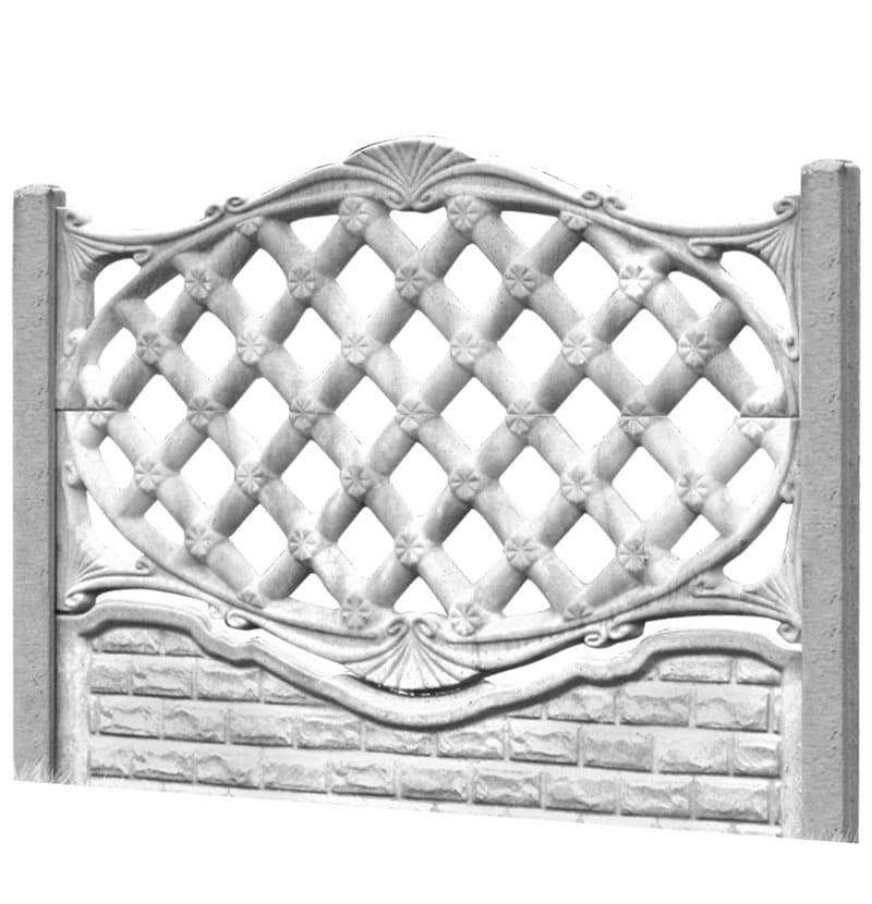 Ogrodzenie betonowe - wzór 01