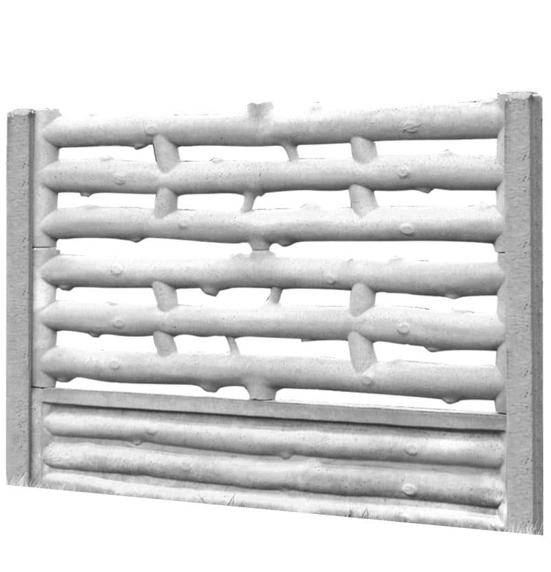 Ogrodzenie betonowe - wzór 02