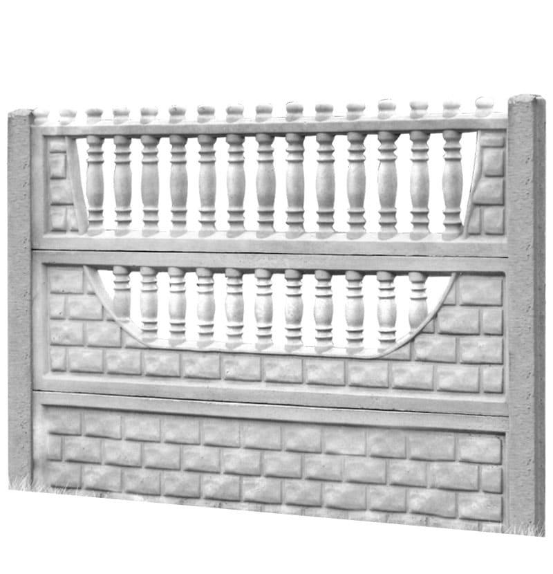 Ogrodzenie betonowe - wzór 03