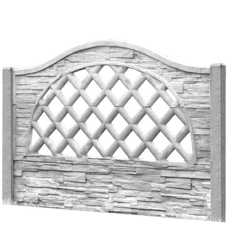 Ogrodzenie betonowe - wzór 08