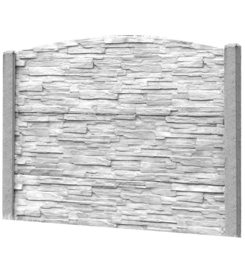 Ogrodzenie betonowe - wzór 09