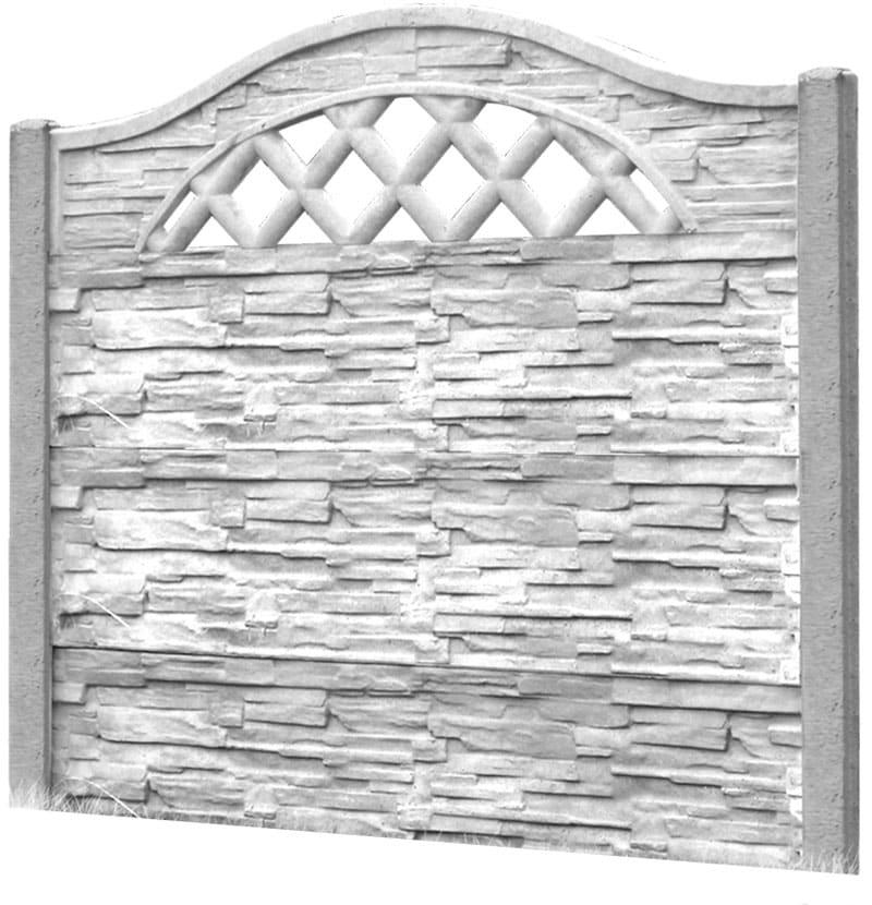 Ogrodzenie betonowe - wzór 10
