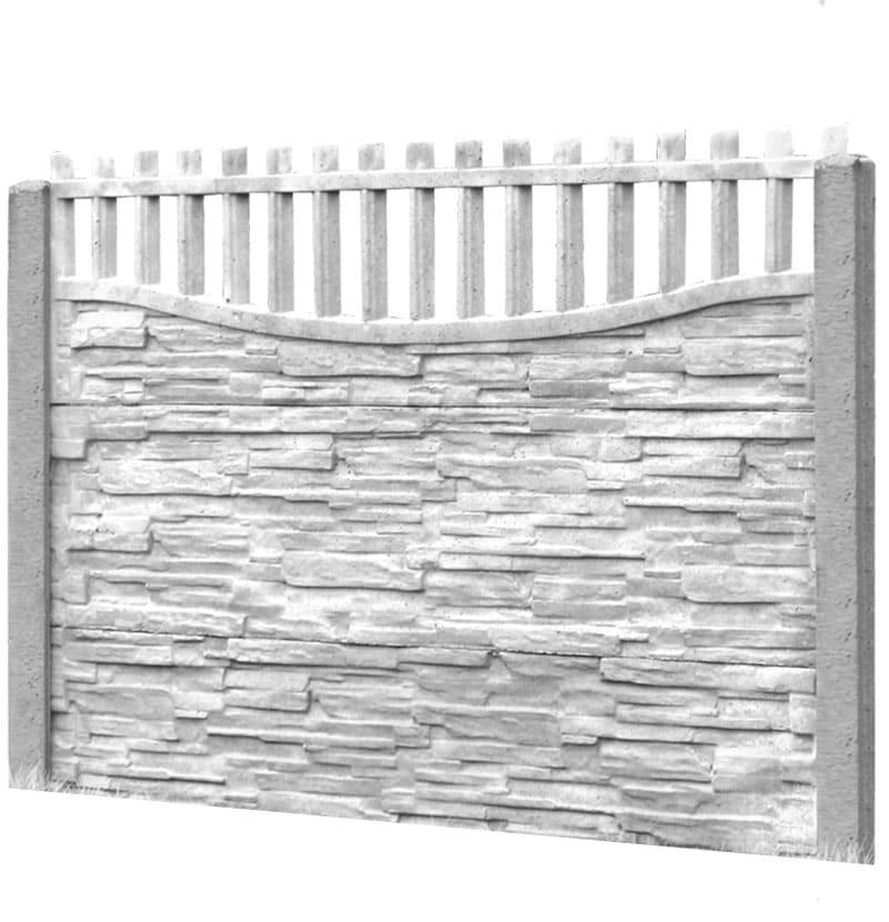 Ogrodzenie betonowe - wzór 12